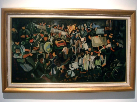 Riot (1955), Lim Hak Tai, Oil on board