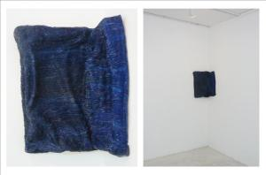 Denim III (2009), Oil on epoxy canvas