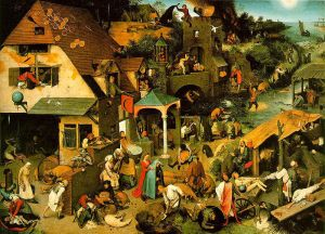 Pieter Bruegel the Elder's Netherlandish Proverbs