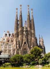 The Sagrada Família: In construction since 1882 and projected to be completed only by 2026