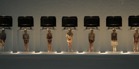 The Specimen Bottle Series (2007), Tan Seow Wei, Mixed-media drawing installation