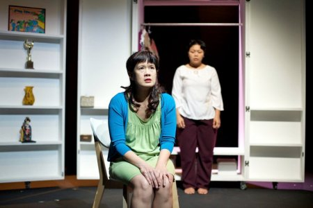 Karen Tan (left) as Wendy with Melly