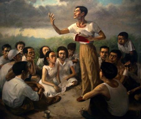 Epic Poem of Malaya (1955), Chua Mia Tee, Oil on canvas