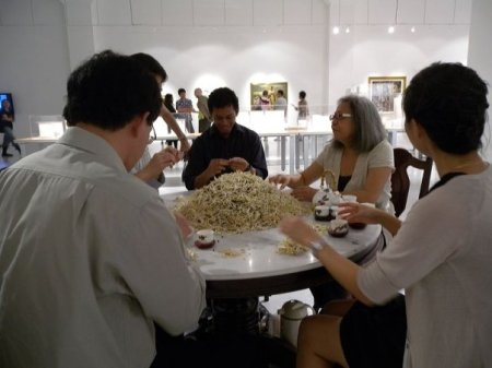 Amanda Heng's Let's Chat (1996-2000), re-presented last year at Curating Labs