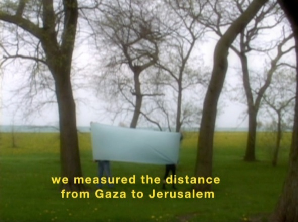 We Began by Measuring Distance (2009), Basma Al Sharif, Single channel video