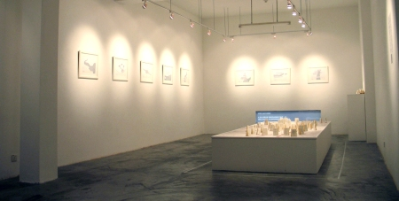 Installation view of \\: The Singapore River as a Psychogeographical Faultline