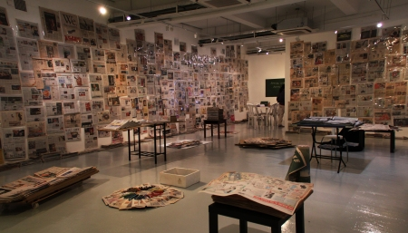 Artists in the News (2011), Koh Nguang How, Installation with newspaper archive and on-going research